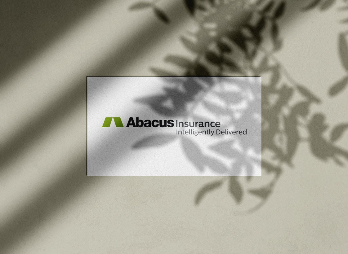 Abacus Insurance Intelligently Delivered Logo Designed by The Logo Smith