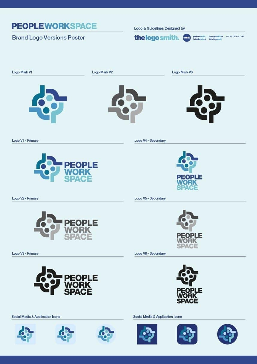 Brand Logo Guidelines and Logo Sheet Poster Template for Download
