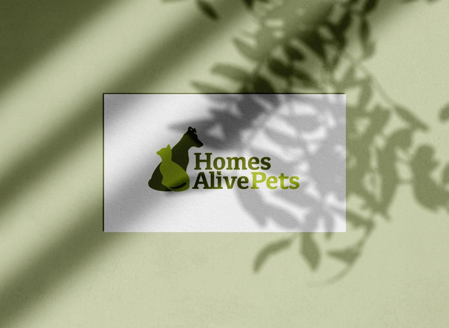 HomesAlive HomesAlivePets Logo & Brand Identity Designed by Freelance Logo Designer The Logo Smith Freelance Logo Designer