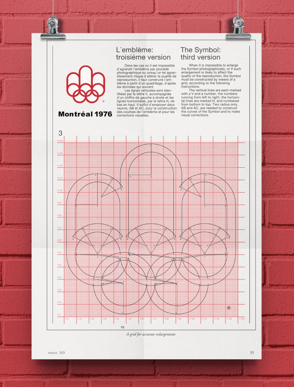 Recreated Montreal Olympic Logo Grid Poster to Download