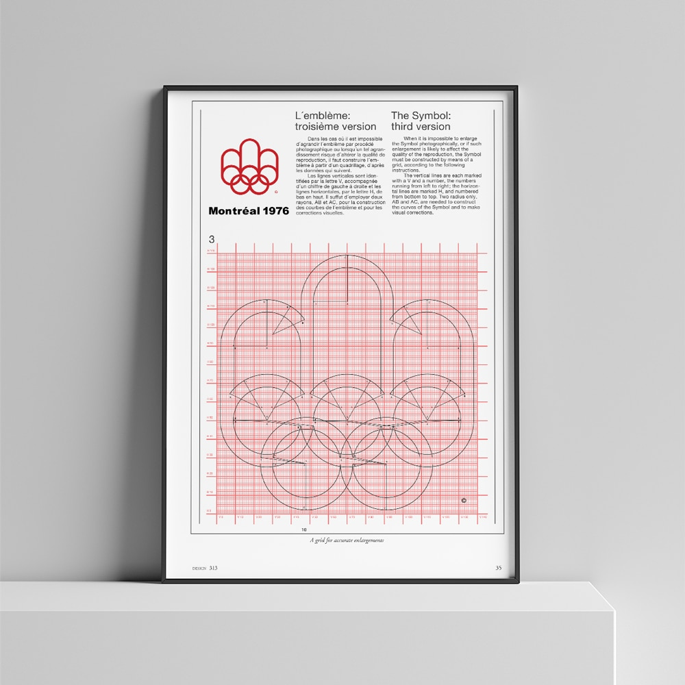 Montreal Olympics Logo Guide Poster