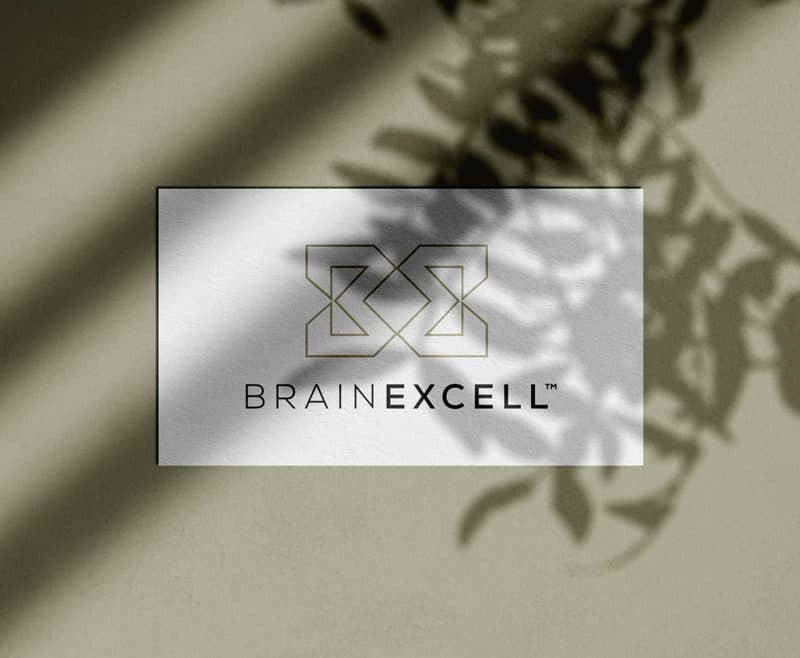 BrainExcell Nootropics Logo and Packaging Designed by Freelance Logo Designer The Logo Smith