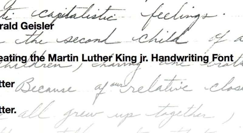Martin Luther King Font by Harald Geisler