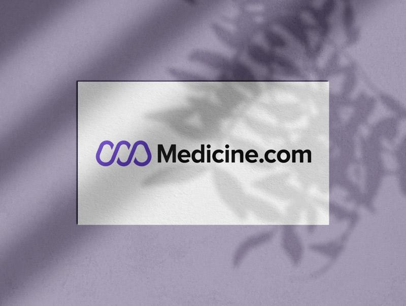 Medicine.com Logo Designed by The Logo Smith