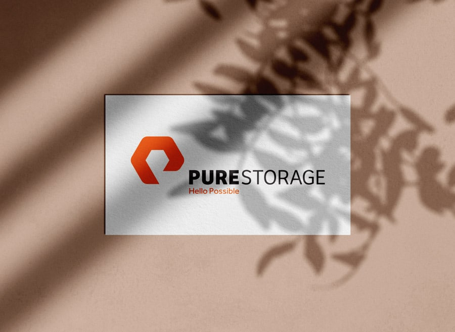 Pure Storage Logo Design & Brand Identity Designed by The Logo Smith