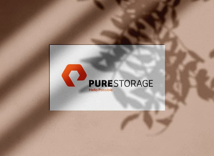 Pure Storage Designed by thelogosmith