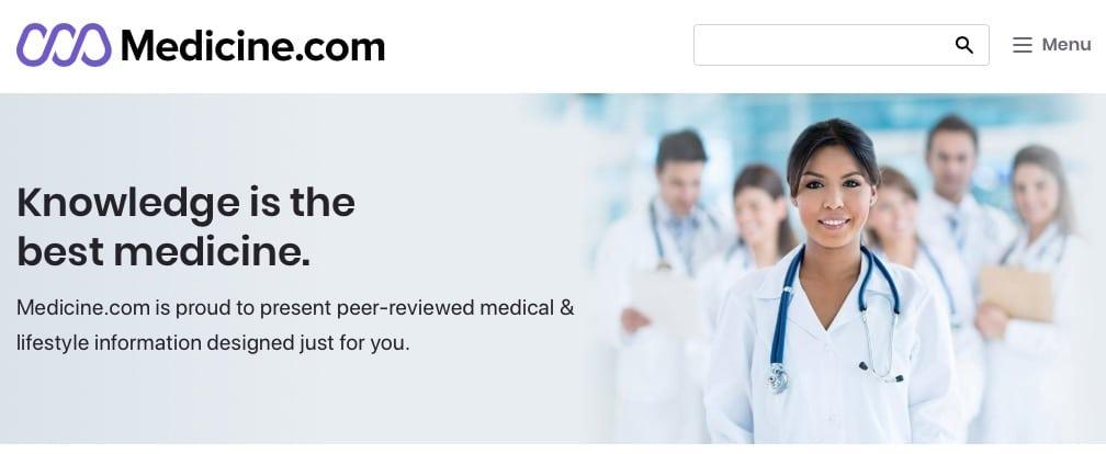 Medicine.com Website