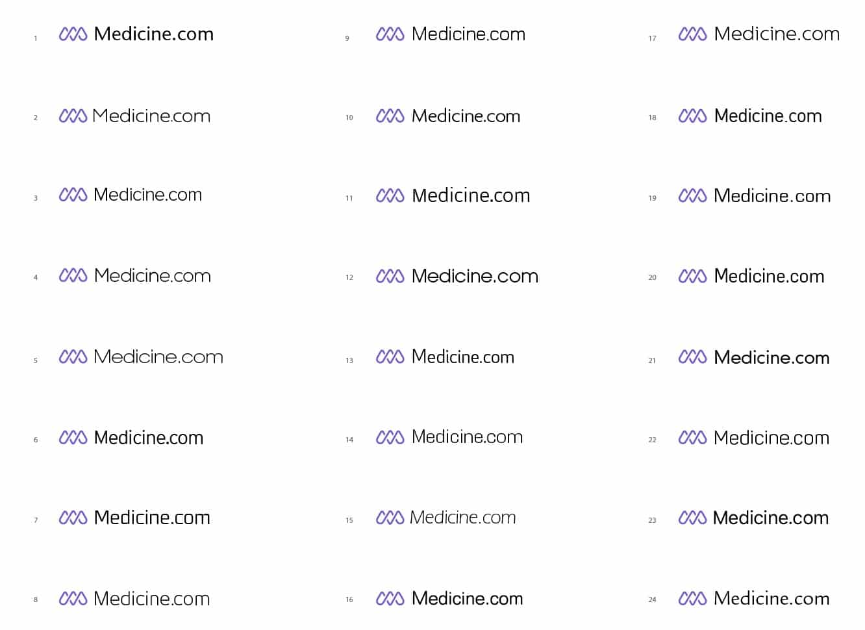 Medicine.com Logo Design Grid designed by The Logo Smith