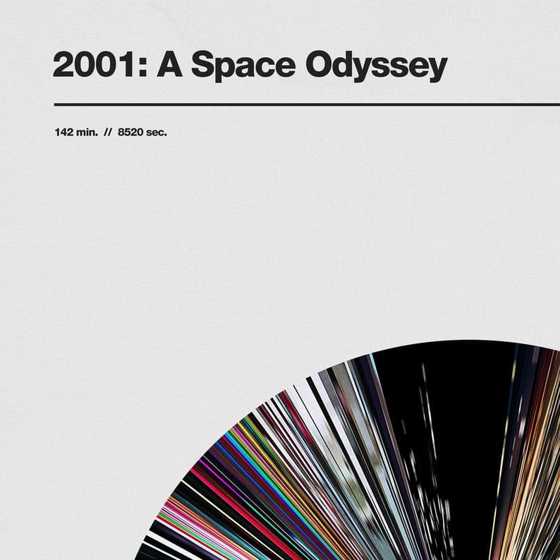 2001 A Space Odyssey Poster of Compressed Frame Segments as CD ROM