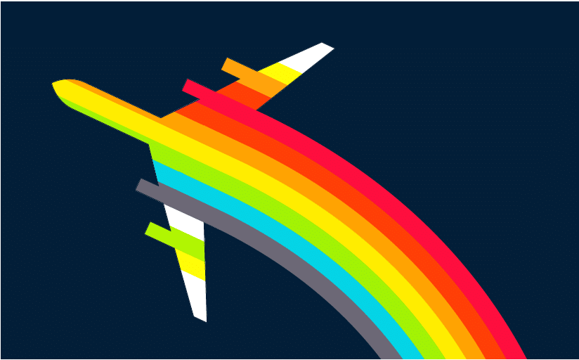 Vintage Air Canada Rainbow Poster Design designed by The Logo Smith