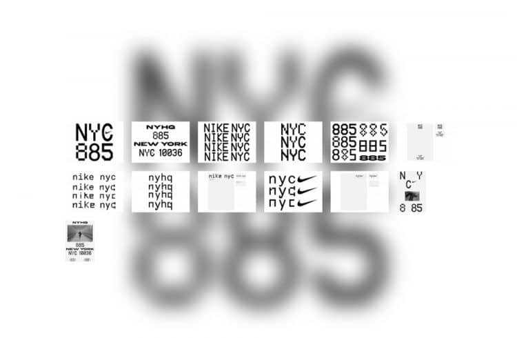 Nike NYC Headquarters Logo & Brand Concepts by Bureau Borsche