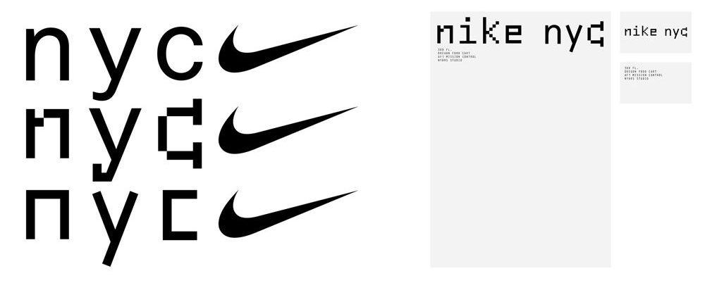 Nike NYC Headquarters Logo & Brand Concepts by Bureau Borsche