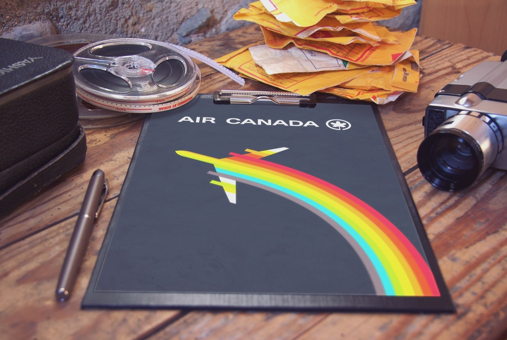 Vintage Air Canada Logo Rainbow Poster Design designed by The Logo Smith