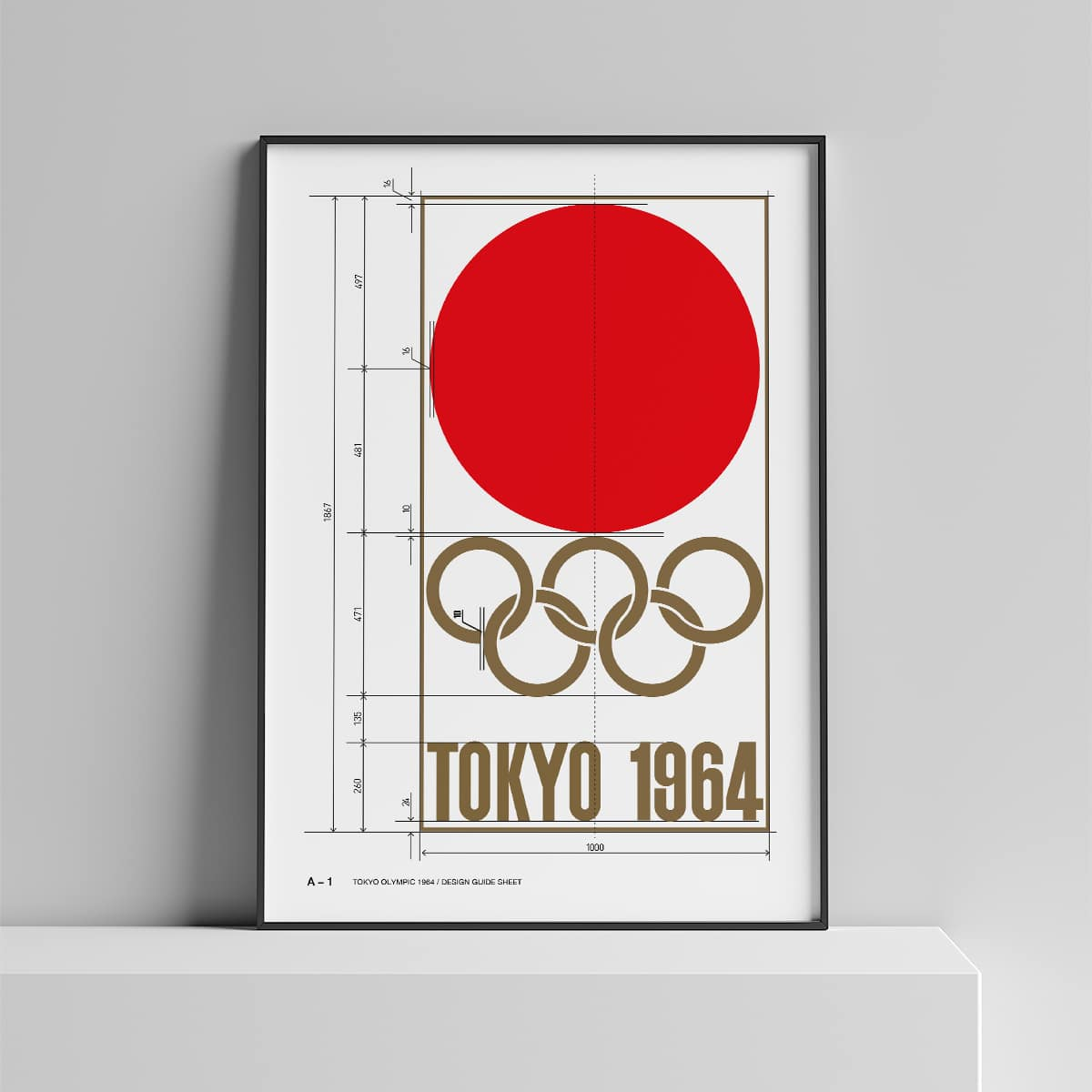 Vintage Tokyo Olympic 1964 Logo Guide Poster For Download