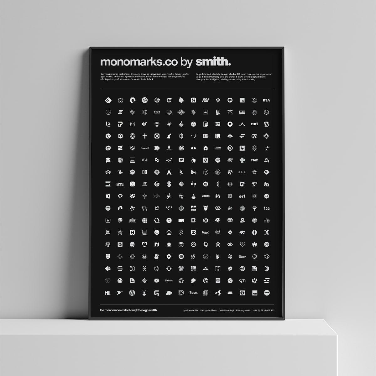 monochrome logo mark portfolio mono marks poster by the logo smith