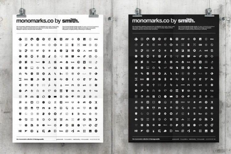monochrome logo mark portfolio monomarks poster by the logo smith