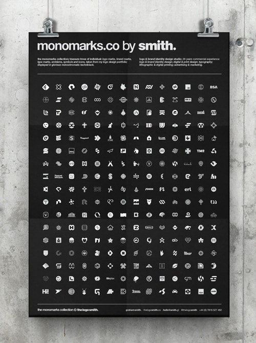 Monomarks Collection Poster designed by The Logo Smith