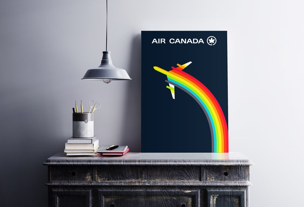 Vintage Air Canada Logo Poster Design designed by The Logo Smith