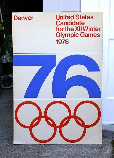 poster was used in Colorado's effort to secure the Olympic bid in 1976