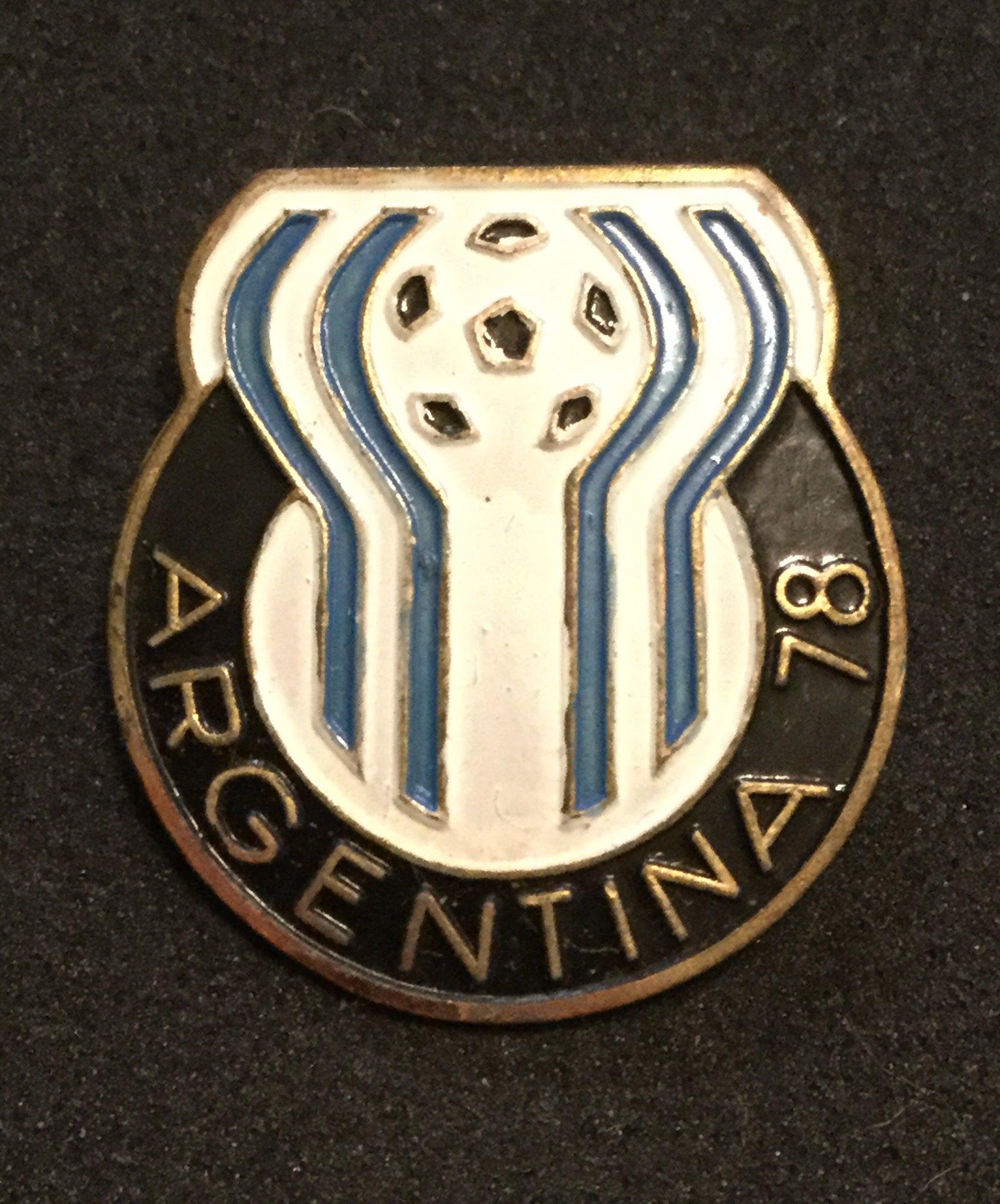 1978 Argentina World Cup Logo Pin Badge