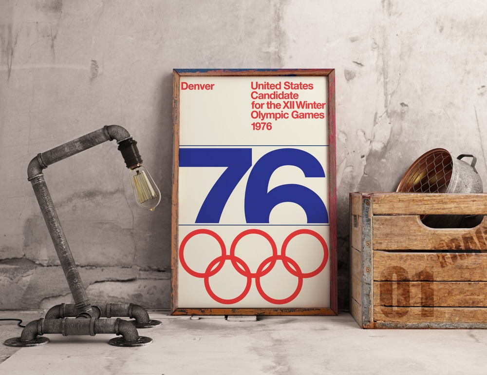 Denver, Colorado Winter Olympic Games 1976 Plus Logo & Poster for Download