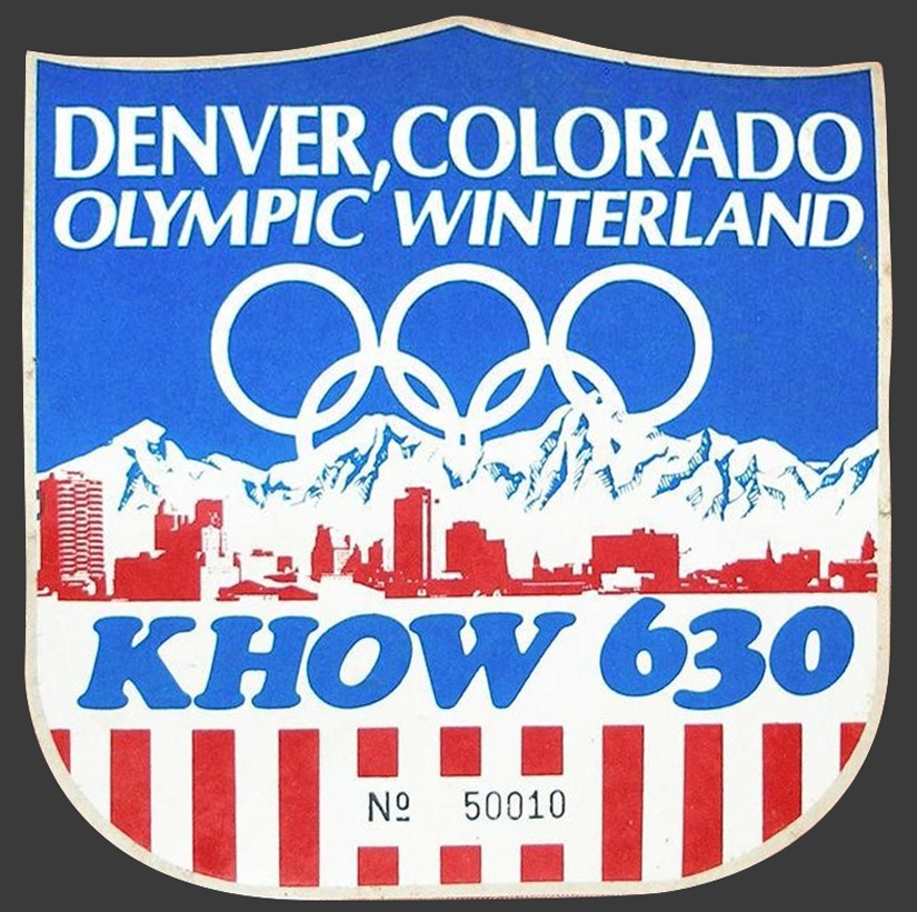 Denver Colorado Olympic Winterland Local Radio Know 630 Limited Number Sticker