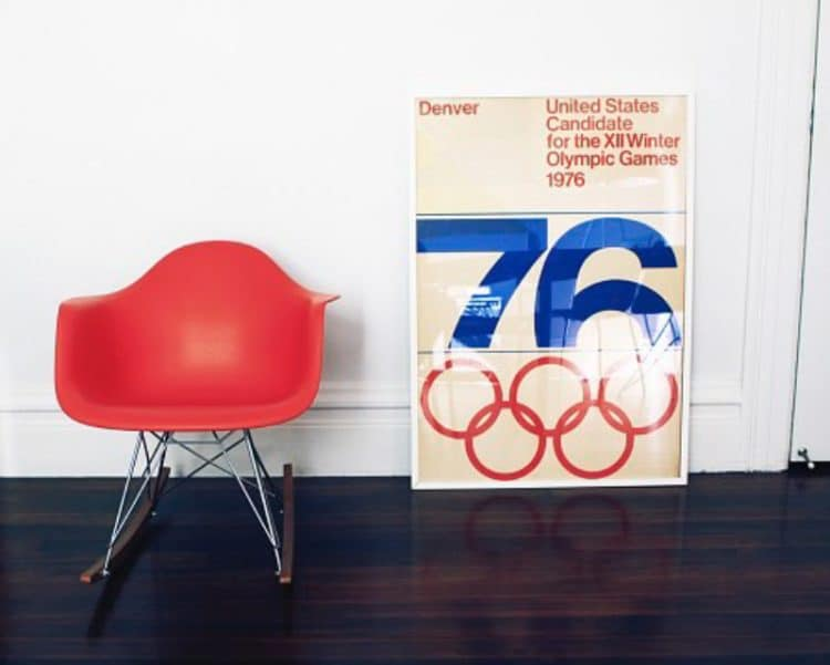 Denver-Colorado-Winter-Olympic-Games-1976-Poster-Design Framed
