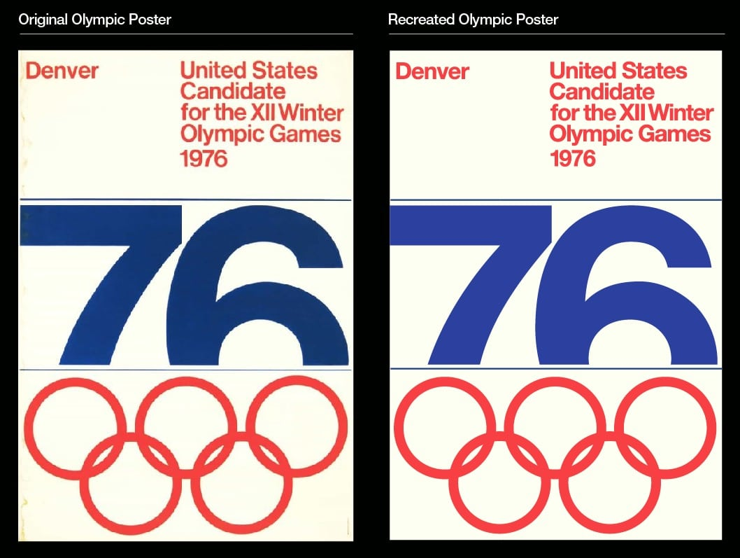 Denver, Colorado Winter Olympic Games 1976 Poster