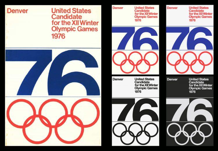 Denver Colorado Winter Olympic Poster Design Recreated