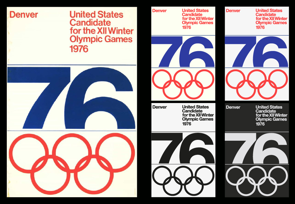 Denver Colorado Winter Olympic Poster Design Recreated