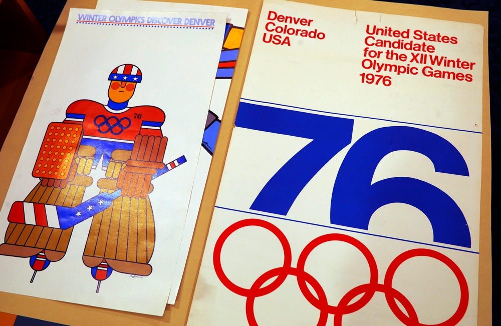 Discover Denver Poster by Gene Hoffman and Denver The City United-States Candidate XII Winter Olympic Games 1976