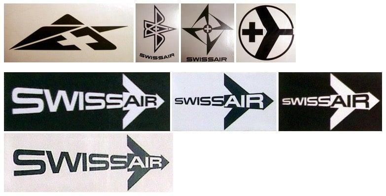 Experimental Swissair Logo Designs