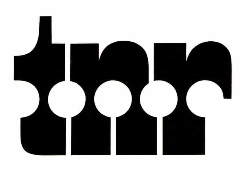 Logo for a textile group Tissages Normands Réunis Designer Adrian Frutiger