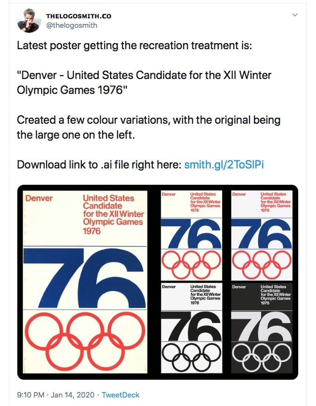 Colorado Winter Olympic Logo & Poster Design Recreated by The Logo Smith
