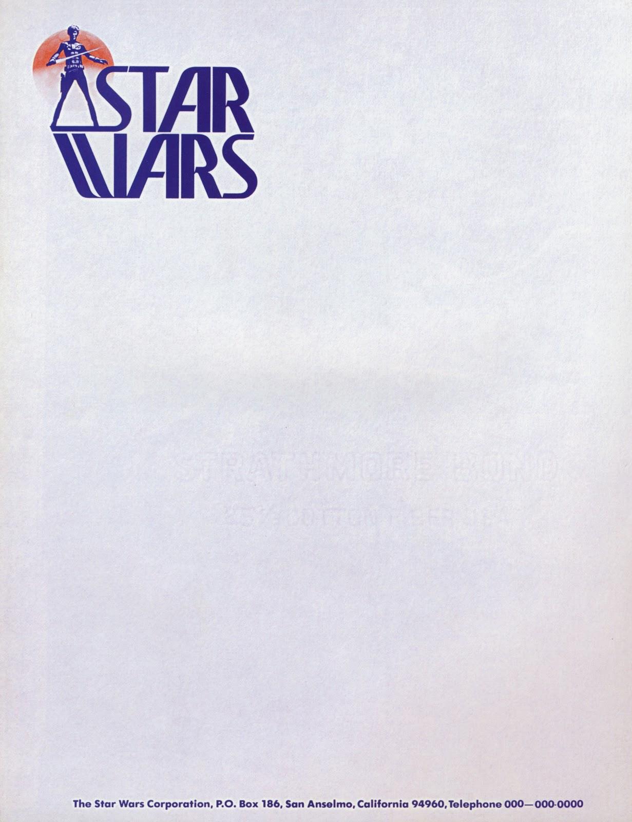 star wars logo letterhead