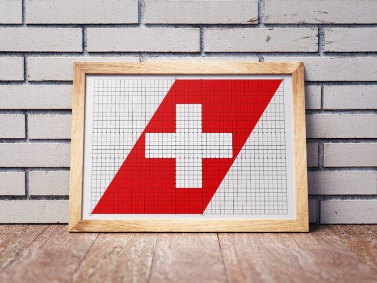 Swissair Poster Mockup Horizontal