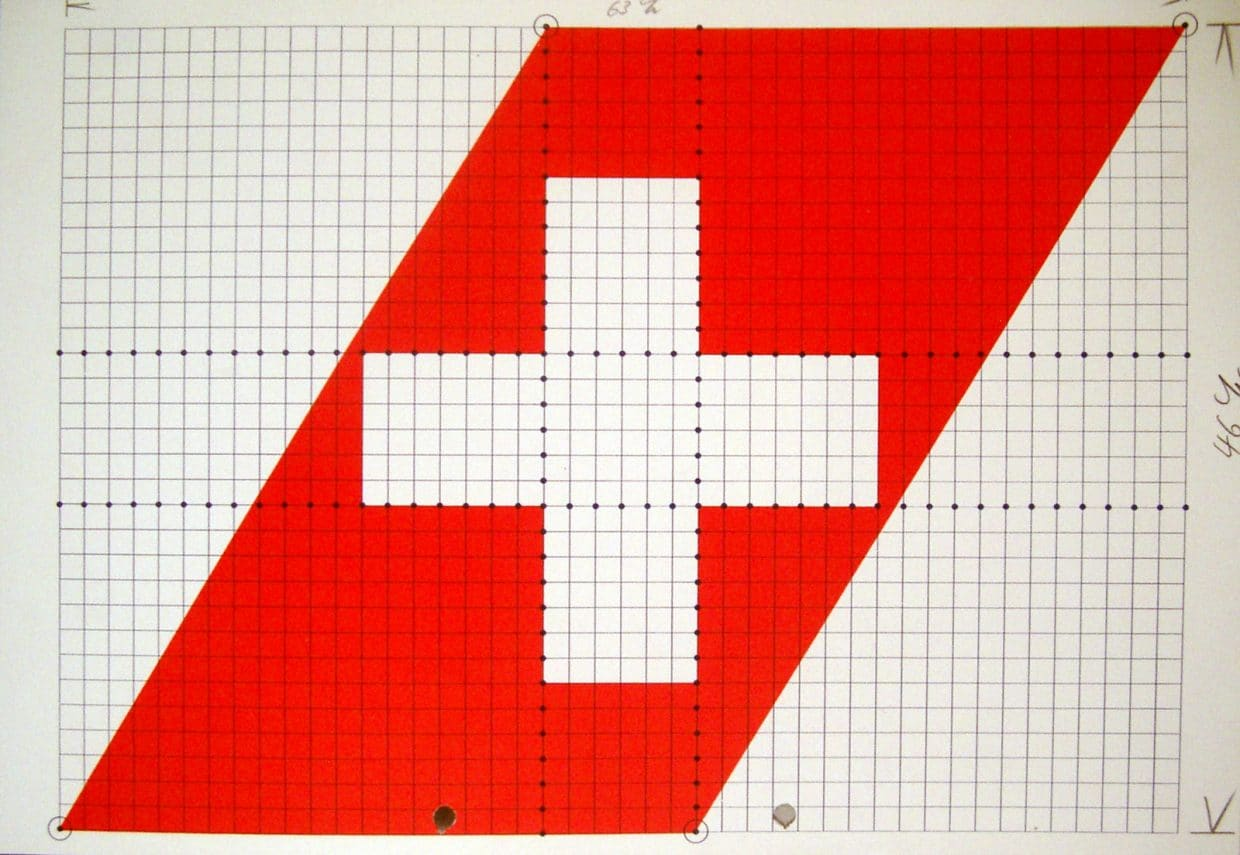 Swissair Logo grid and guide 1981-2002