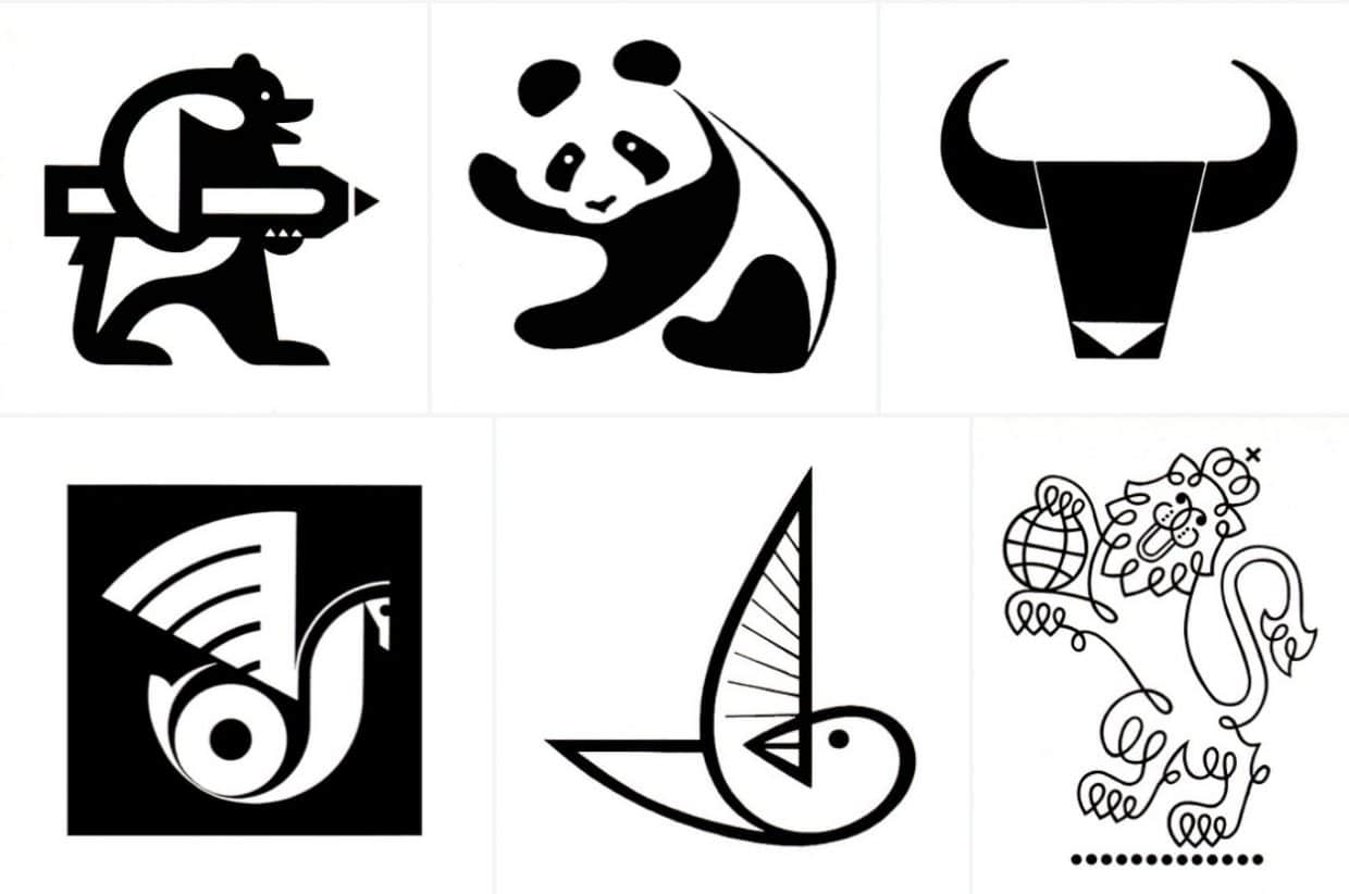 Vintage Monochrome Logos & Trademarks from the 1950s - 1970s 1