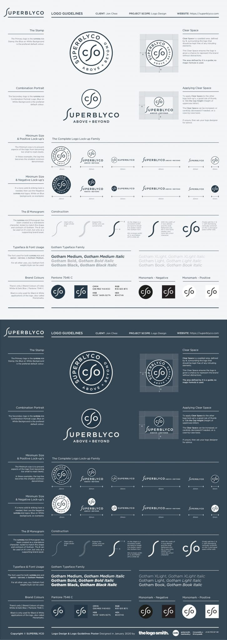 Logo Guidelines Template Poster