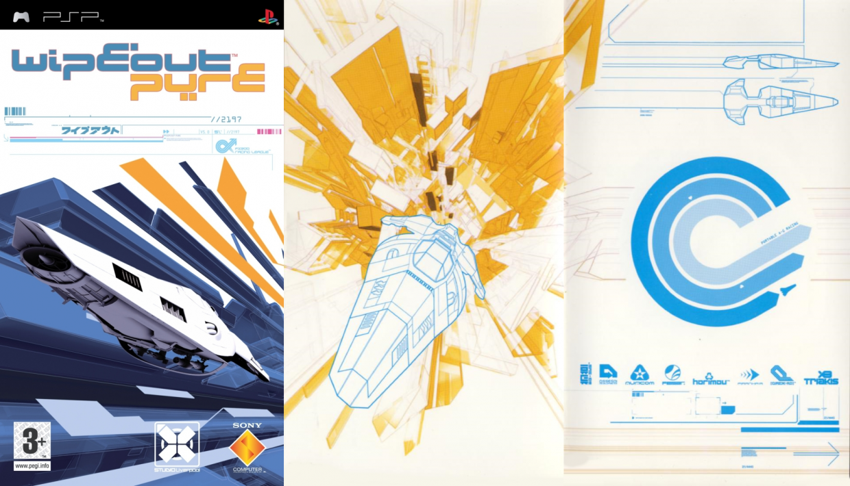 Cover art for Wipeout Pure, created by The Designers Republic