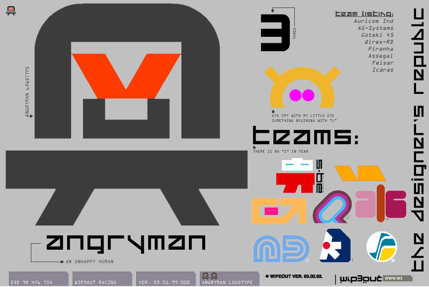 AngryMan Logotype The Designers Republic Wip3out