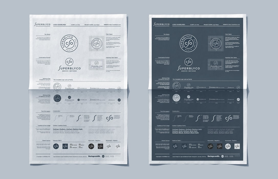 Logo Guidelines Poster Free Offset Paper Poster Mockup PSD