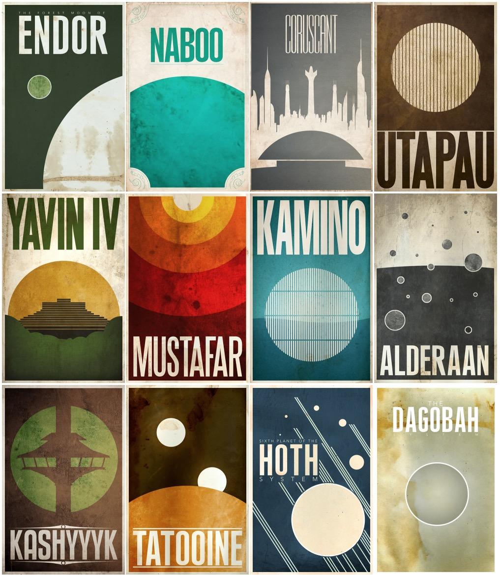 Star Wars Universe Posters Designed by Justin Van Genderen
