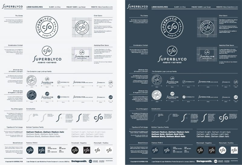 Logo Guidelines Template Poster for Download