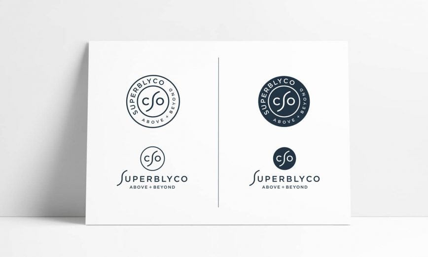 SuperblyCo Stamp Logo Design A4 Mockup by The Logo Smith