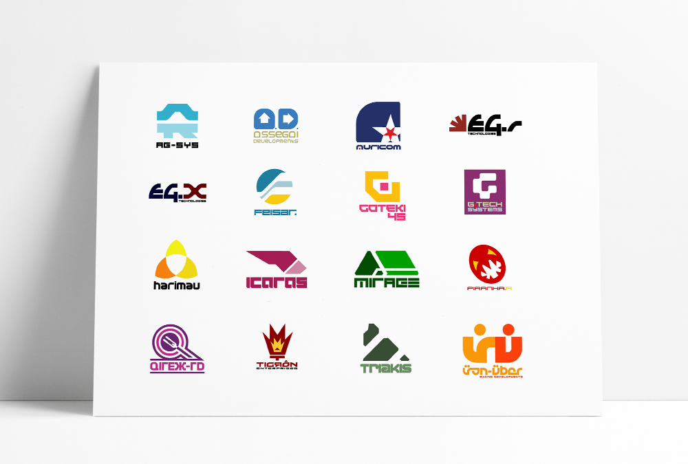 Wipeout in-game Logos by the designers republic