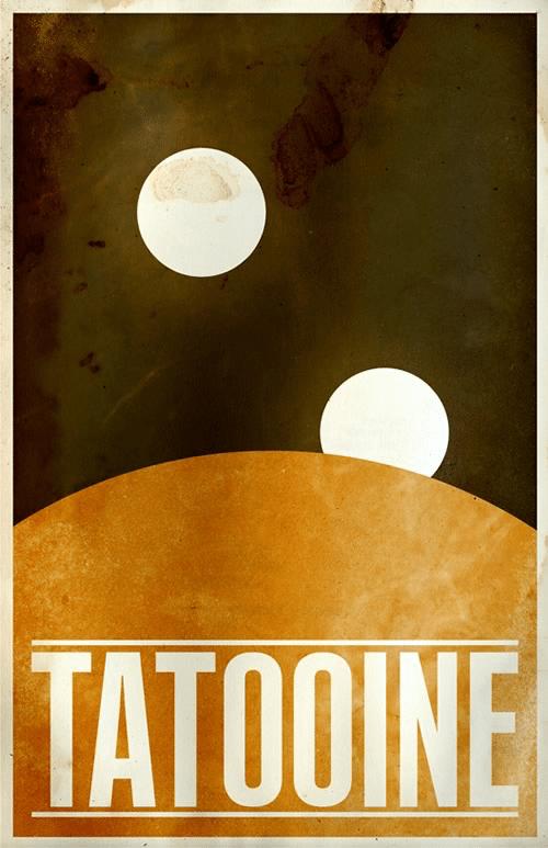 Tatooine System Minimalist Star Wars Galaxy Posters designed by  Justin Van Genderen