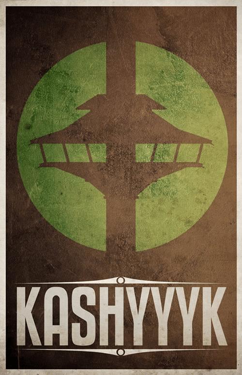 Kashyyyk System Minimalist Star Wars Galaxy Posters designed by  Justin Van Genderen