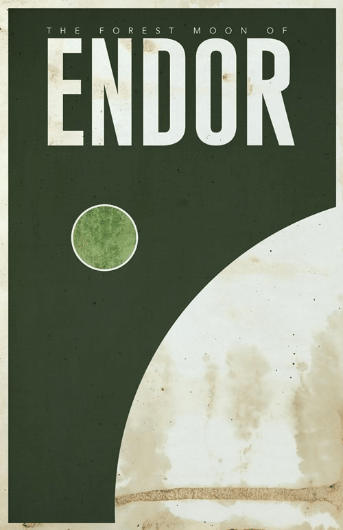 Endor Minimalist Star Wars Galaxy Posters designed by  Justin Van Genderen