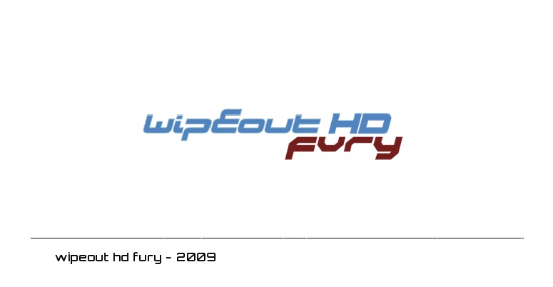 wipeout hd fury logo - 2009